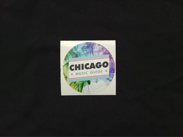 Chicago Music Guide Circle Sticker