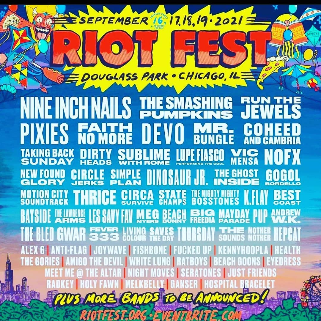 Riot Fest Announce 2021 Lineup & 2022 Headliner 1