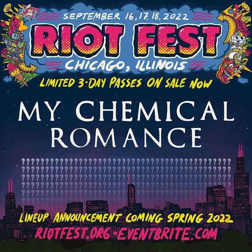 Riot Fest Announce 2021 Lineup & 2022 Headliner 2